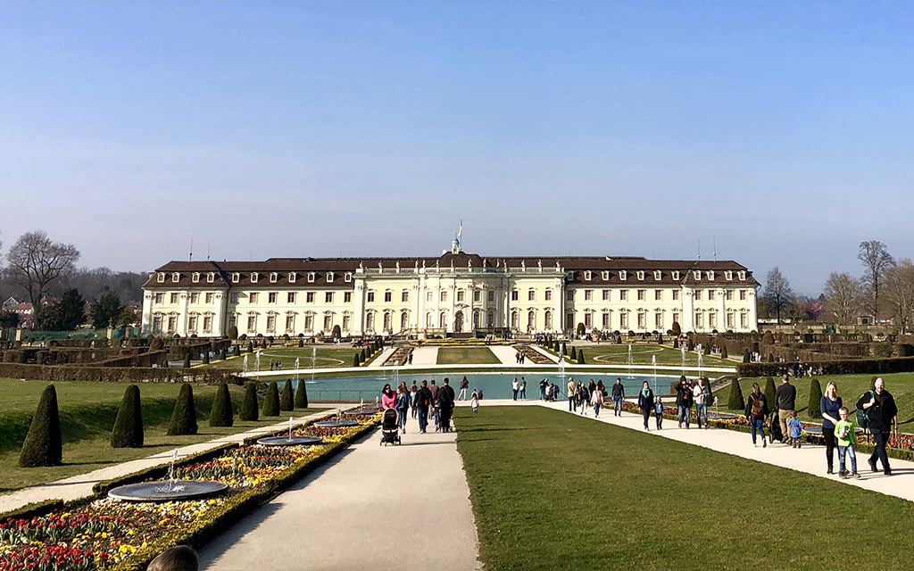 residential palace and garden view ludwigsburg fairy tale gardens 2019