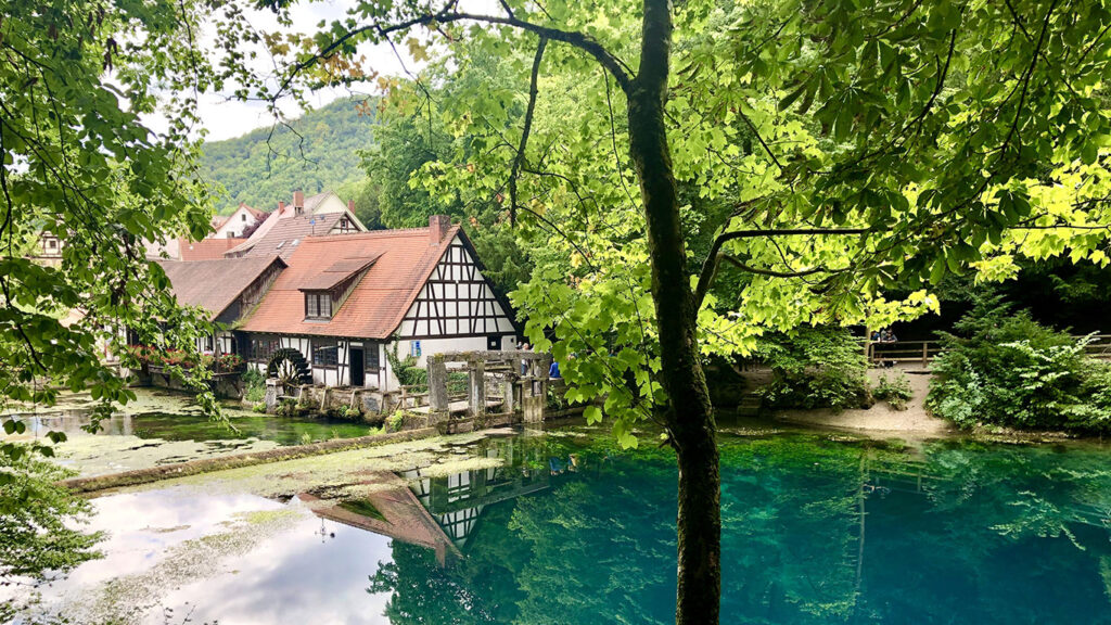 Blautopf-Hammer-mill-view-Blaubeuren-Germany